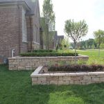 Rosetta Stone Retaining Wall, Boxwood Hedge, Clarkston, MI