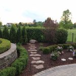 Stepping Stone Walkway with Hedge - Clarkston, MI