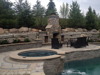 backyard wood fireplace or pizza oven in rochester hills